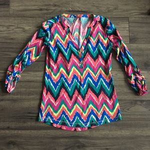 XS Lilly Pulitzer Chevron Tshirt